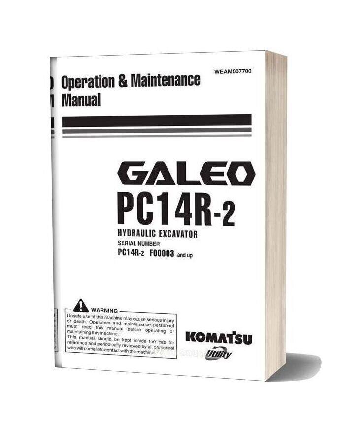 Komatsu Hydraulic Excavator Pc14r 2 Operation Maintenance Manual