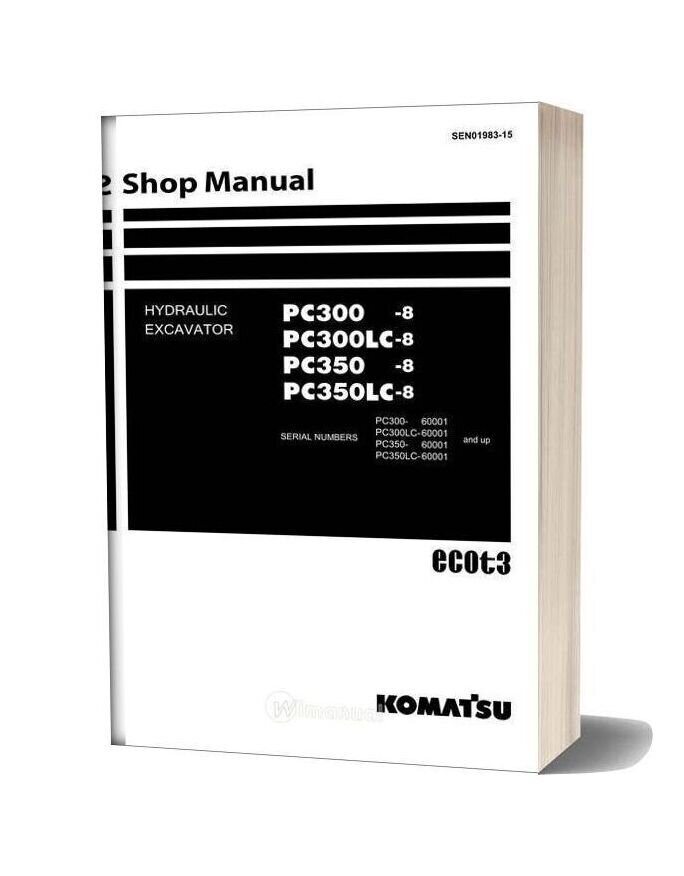 Komatsu Hydraulic Excavator Pc300 8 60001 Shop Manual