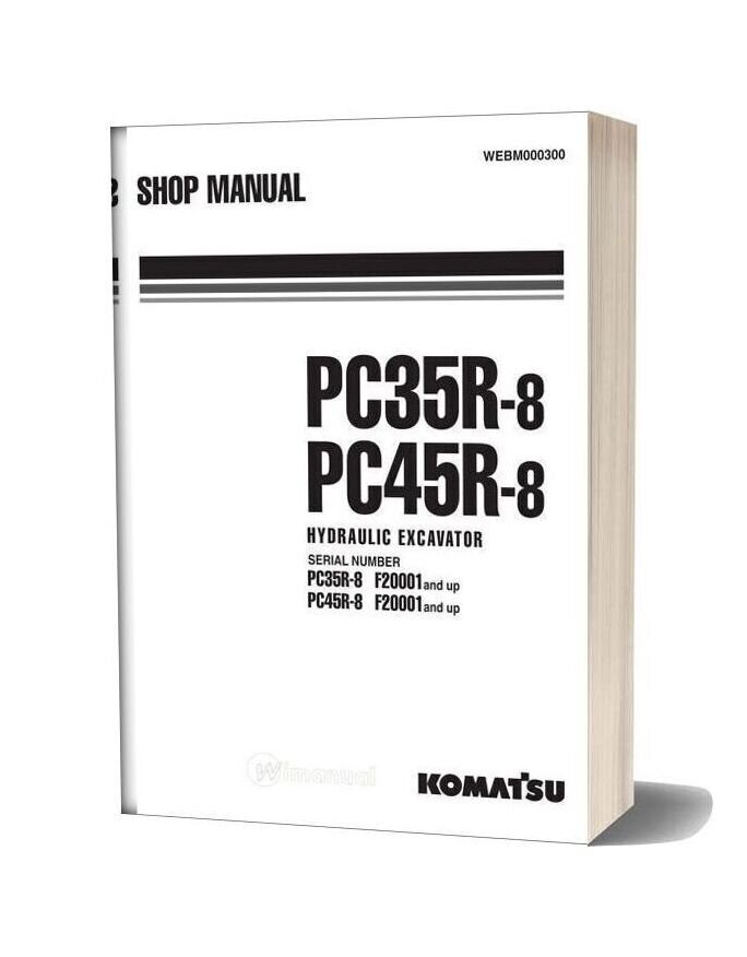 Komatsu Hydraulic Excavator Pc35 45r8 Shop Manual