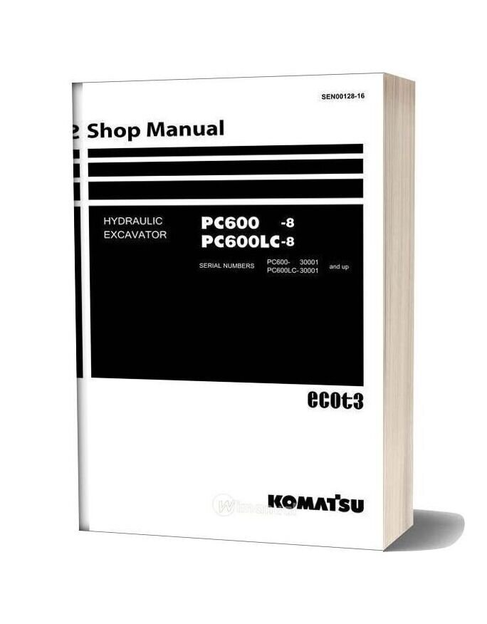 Komatsu Hydraulic Excavator Pc600 8 Shop Manual