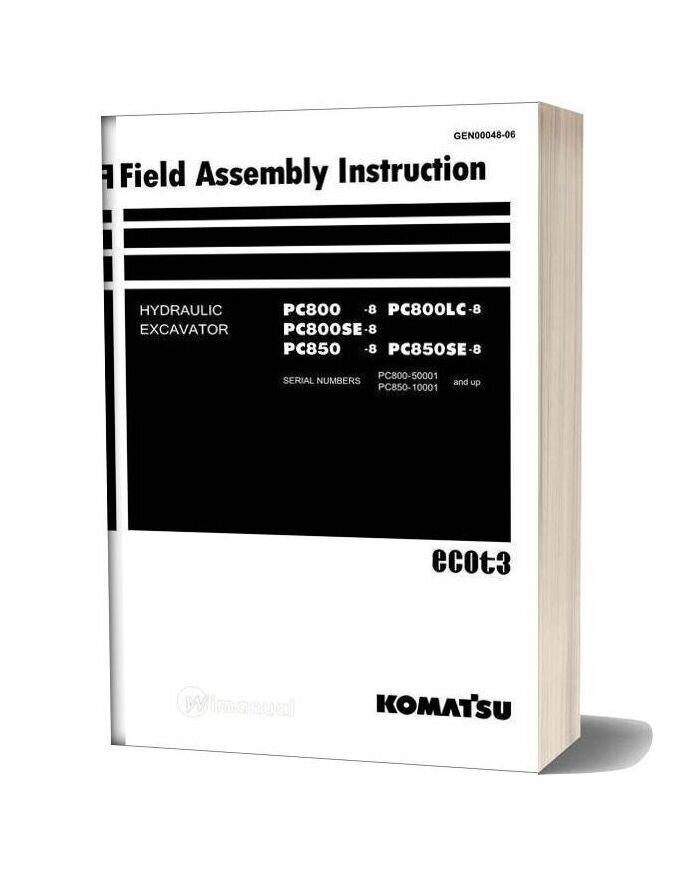 Komatsu Hydraulic Excavator Pc850se 8 Shop Manual-25k13946