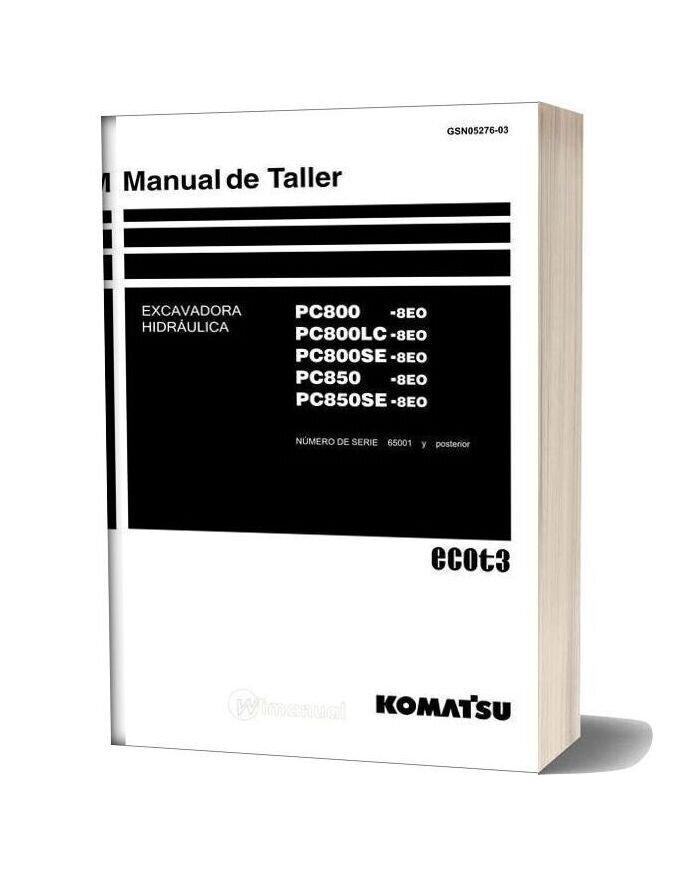 Komatsu Hydraulic Excavator Pc850se 8eo Shop Manual