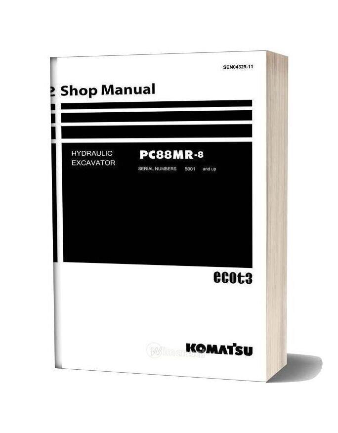 Komatsu Hydraulic Excavator Pc88mr 8 Shop Manual