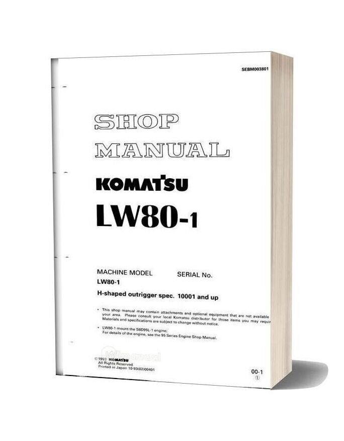Komatsu Lw80 1 Shop Manual