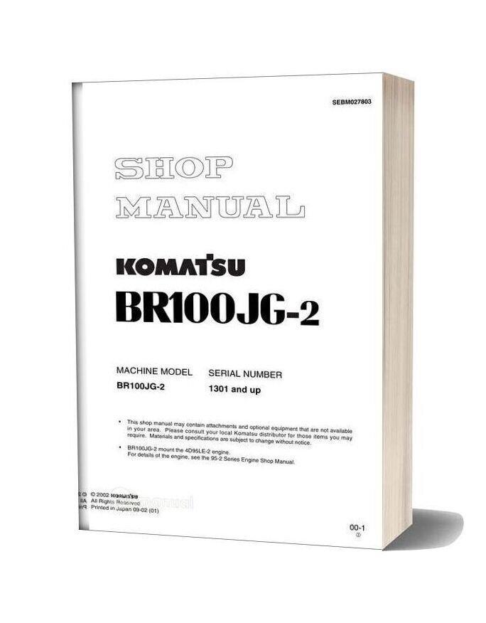 Komatsu Mobile Crushers Br100jg 2 Shop Manual