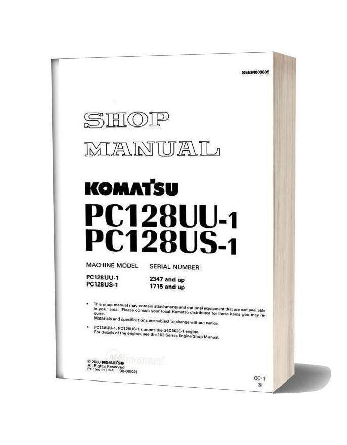 Komatsu Pc128uu Pc128us 1 Shop Manual