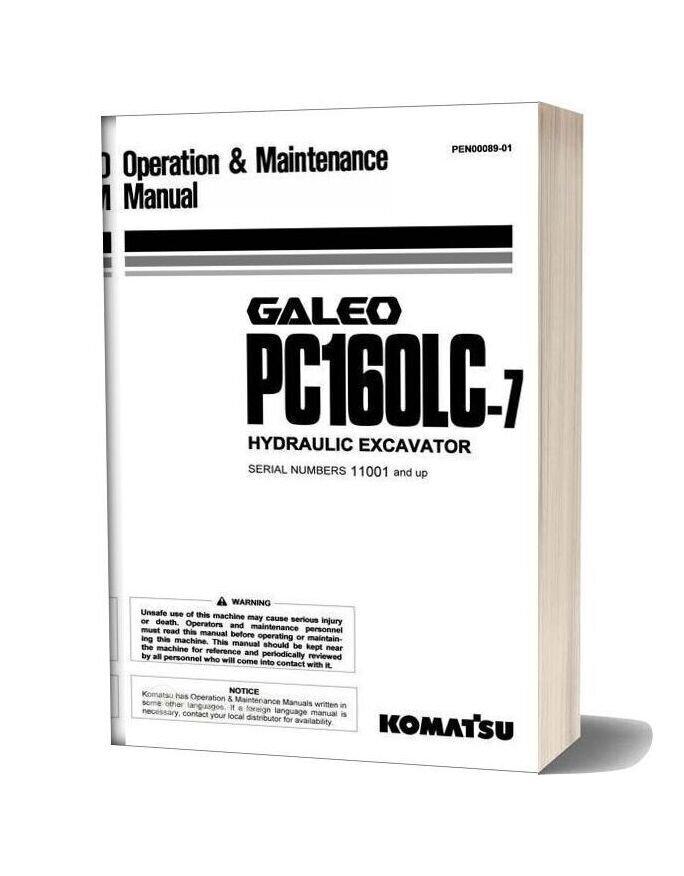 Komatsu Pc160lc 7 Galeo Operation & Maintenance Manual
