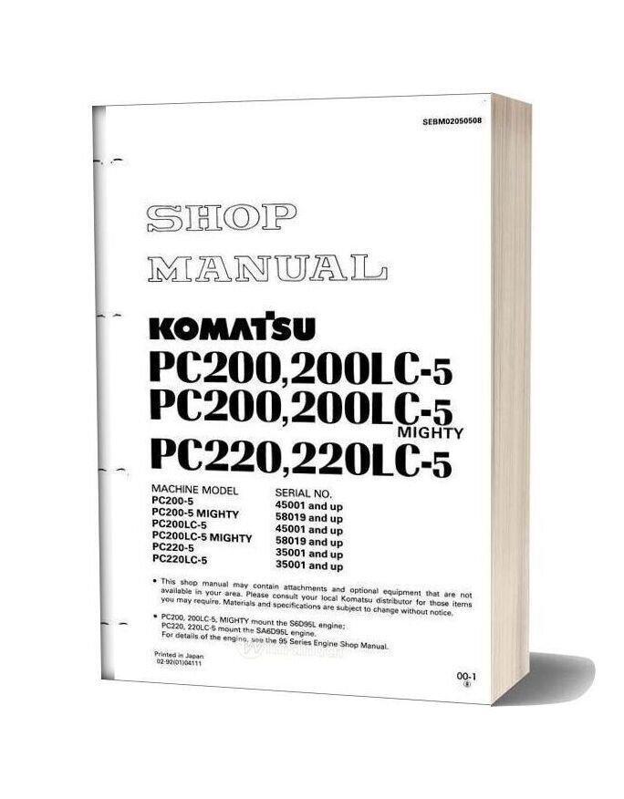 Komatsu Pc200 5 Shop Manual