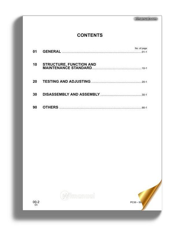 Komatsu Pc27 Pc30 Pc35 Pc40 Pc50 Mr2 Shop ManualWiManual