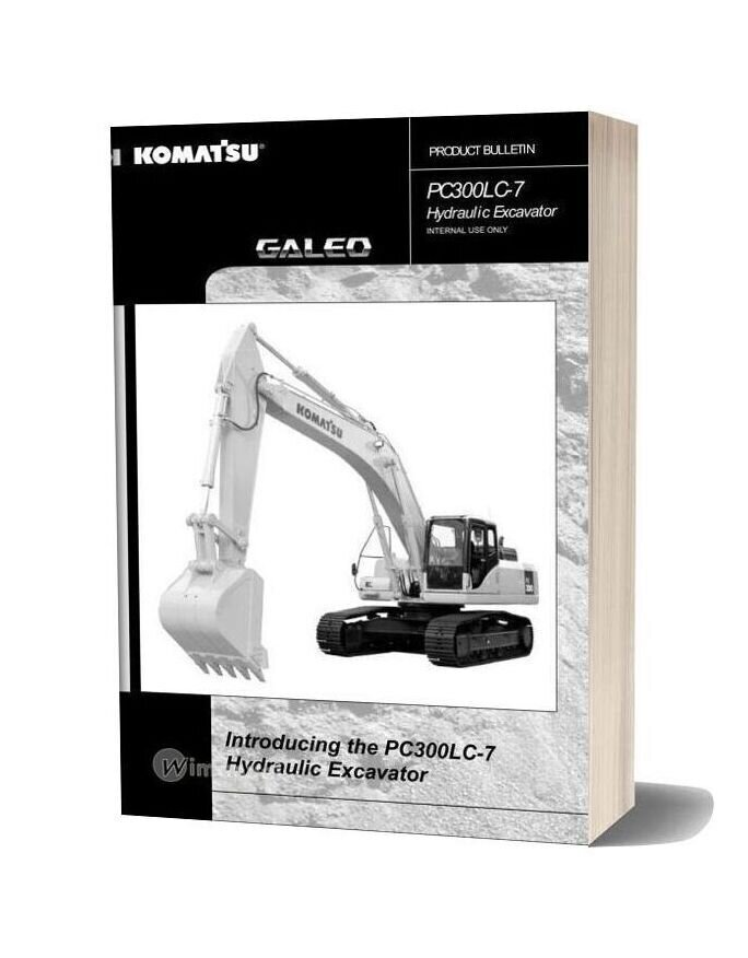 Komatsu Pc300lc 7 Hydraulic Excavator Product Bulletin