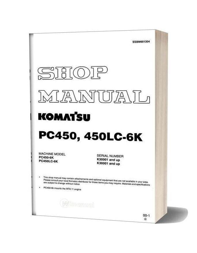 Komatsu Pc450 450lc 6k Shop Manual