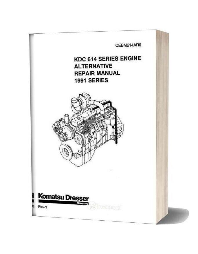 Komatsu Repair Manual Of 614 Series Engine