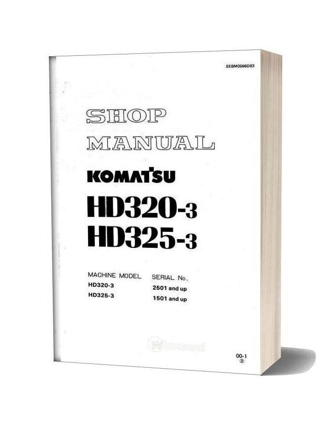 Komatsu Rigid Dump Trucks Hd325 3 Shop Manual