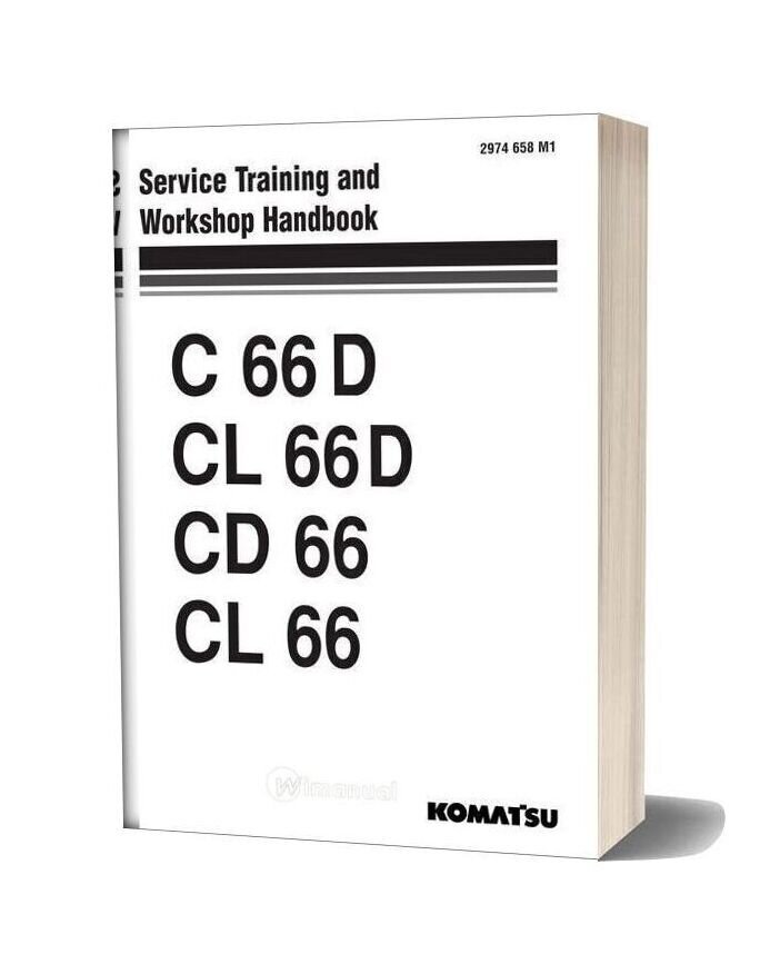 Komatsu Trash Compactors Cd66 1 Workshop Manuals