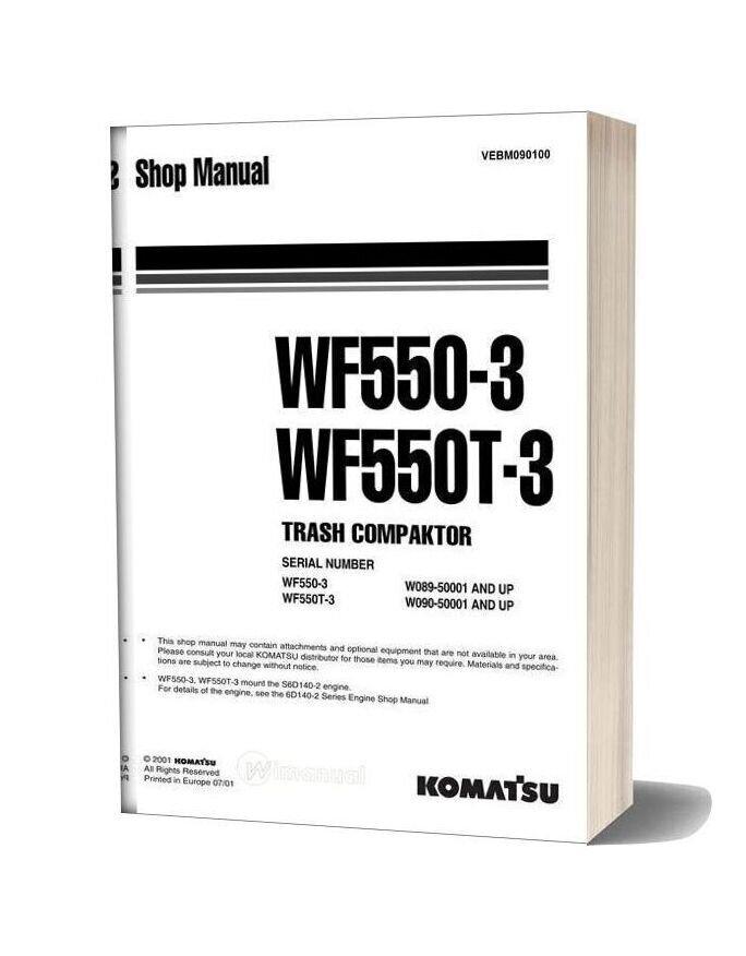 Komatsu Trash Compactors Wf550 3 Workshop Manuals