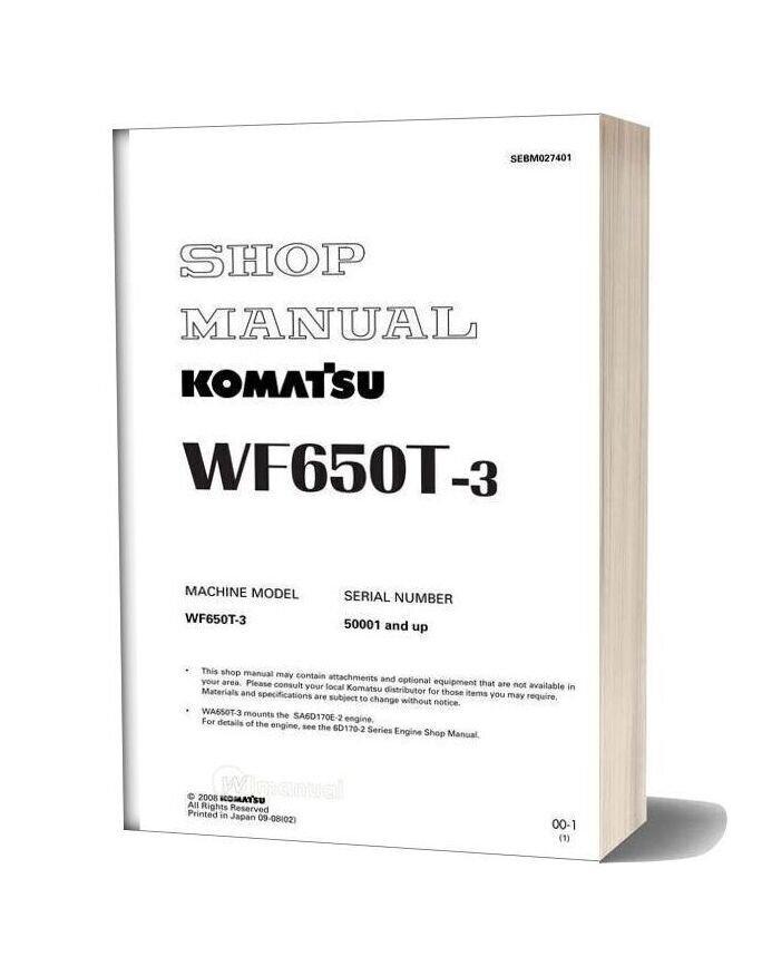 Komatsu Trash Compactors Wf650t 3 Workshop Manuals