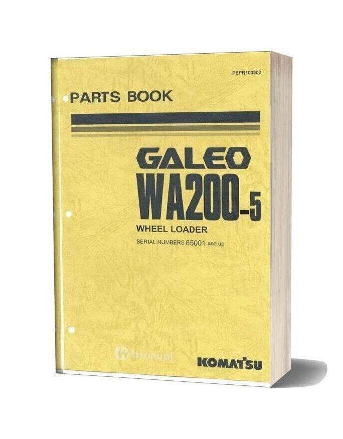 Komatsu Wa200 5 Parts Manual