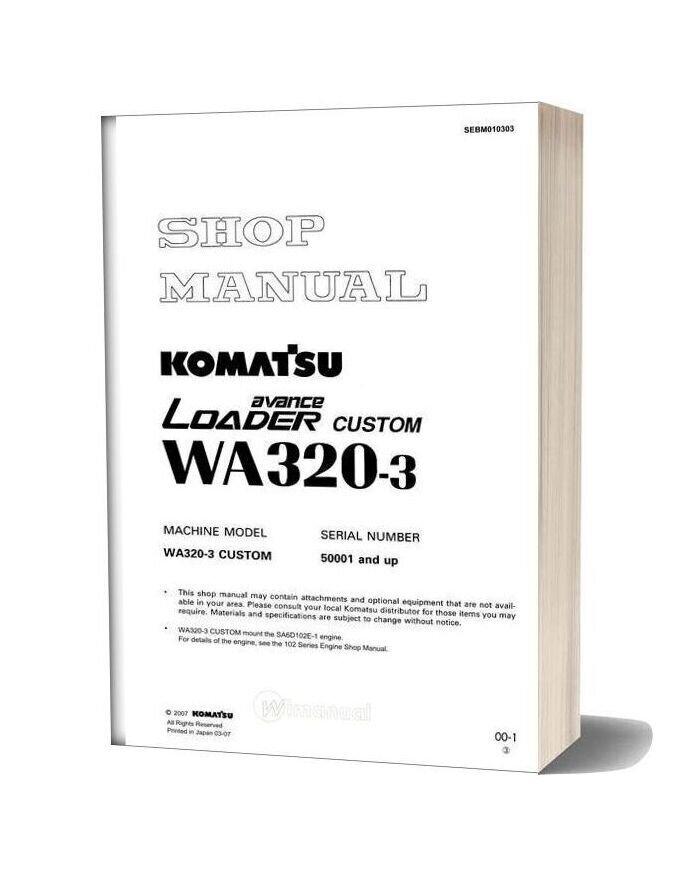 Komatsu Wa320 3 Shop Manual