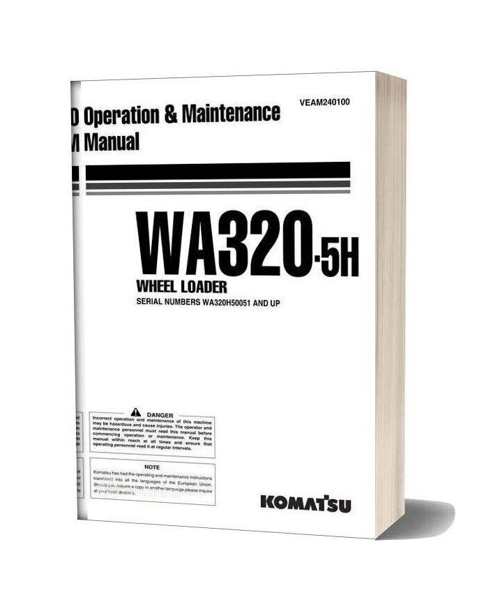 Komatsu Wa320 5h Operation Maintenance Manual
