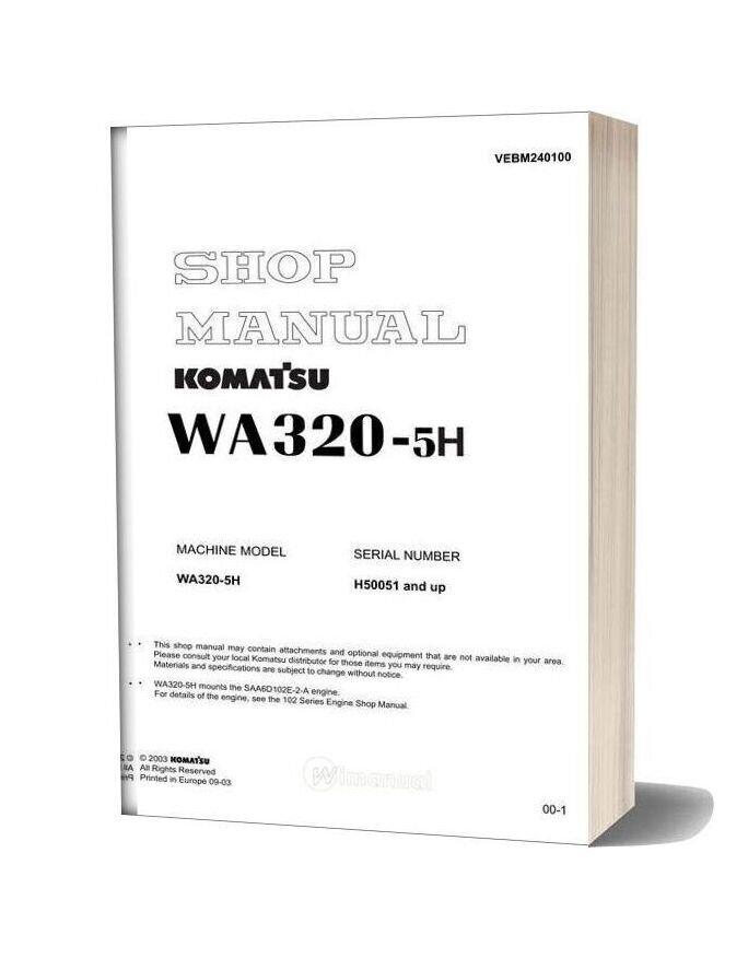 Komatsu Wa320 5h Shop Manual