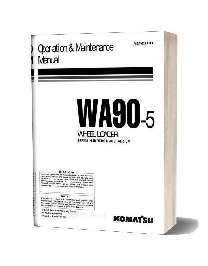 Komatsu Wa90 5 Operation Maintenance Manual