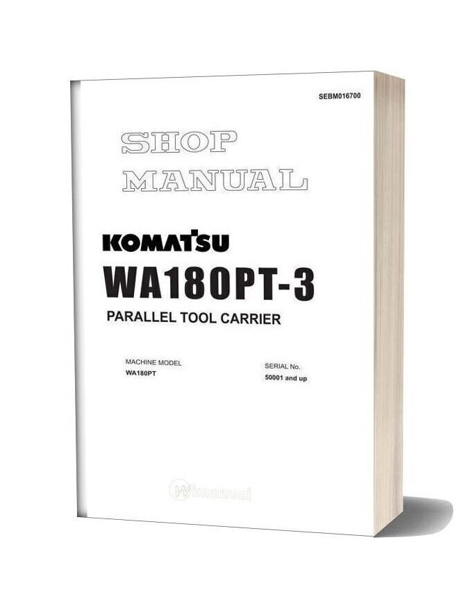 Komatsu Wheel Loaders Wa180pt 3 Shop Manual