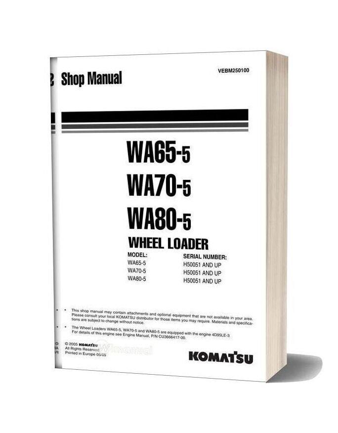 Komatsu Wheel Loaders Wa65 5 Shop Manual