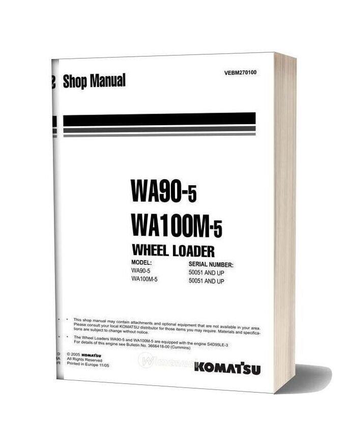 Komatsu Wheel Loaders Wa90 5 Shop Manual