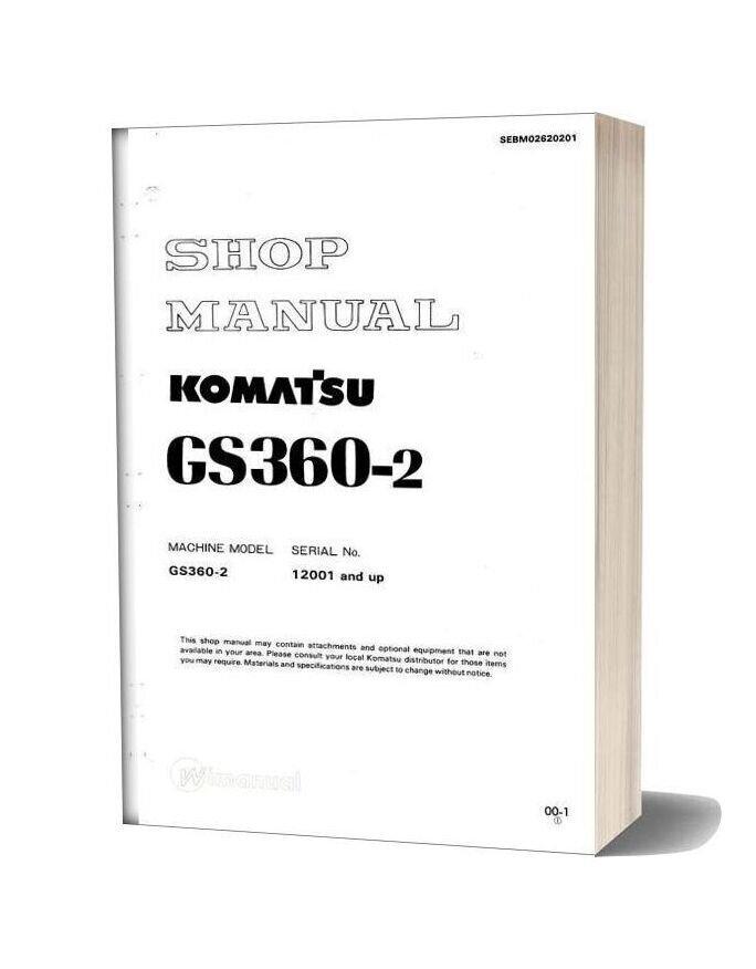 Komatsu Wheel Stabilizer Gs360 2 Workshop Manuals