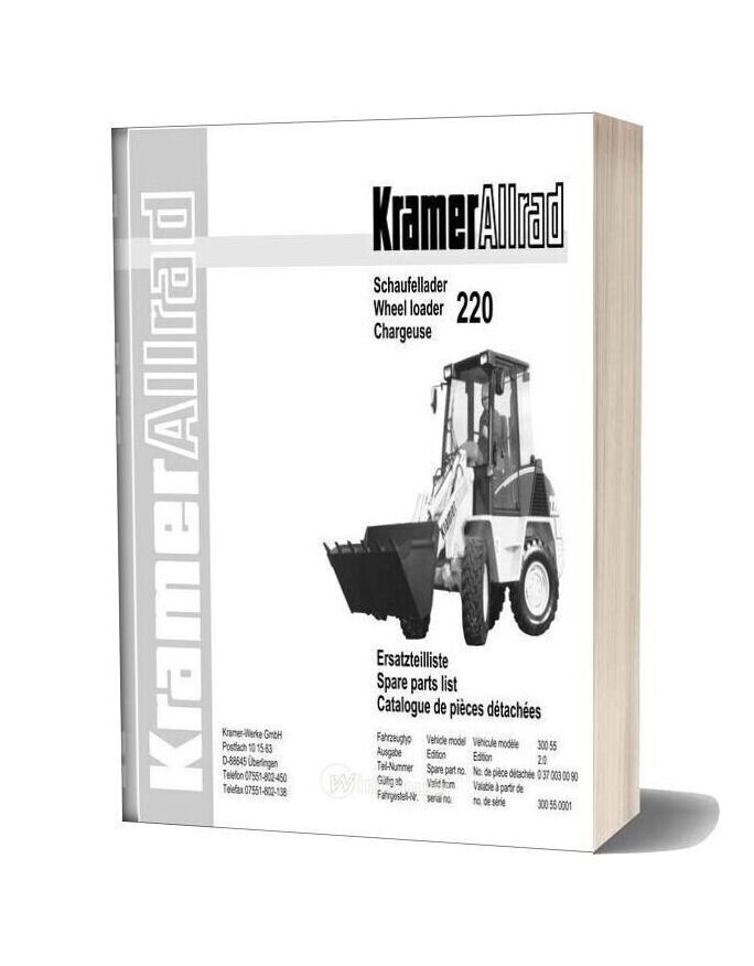 Kramer 220 Serie 1 Spare Parts