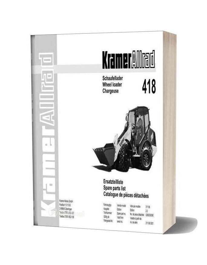 Kramer 418 Serie Spare Parts