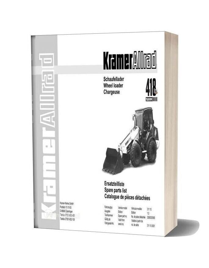 Kramer 418 Telescopic Serie2 Spare Parts