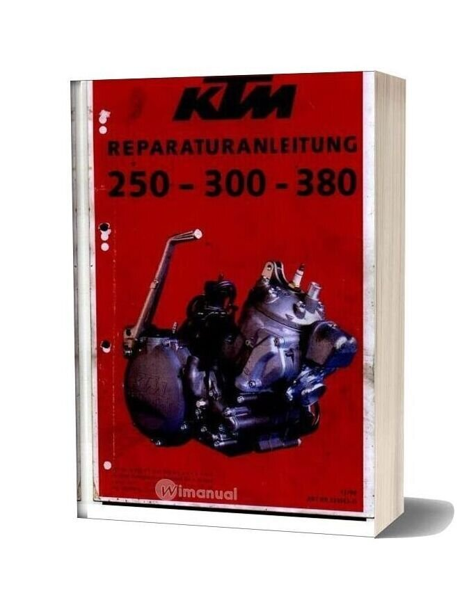 Ktm 250 300 380 Service Manual (German)