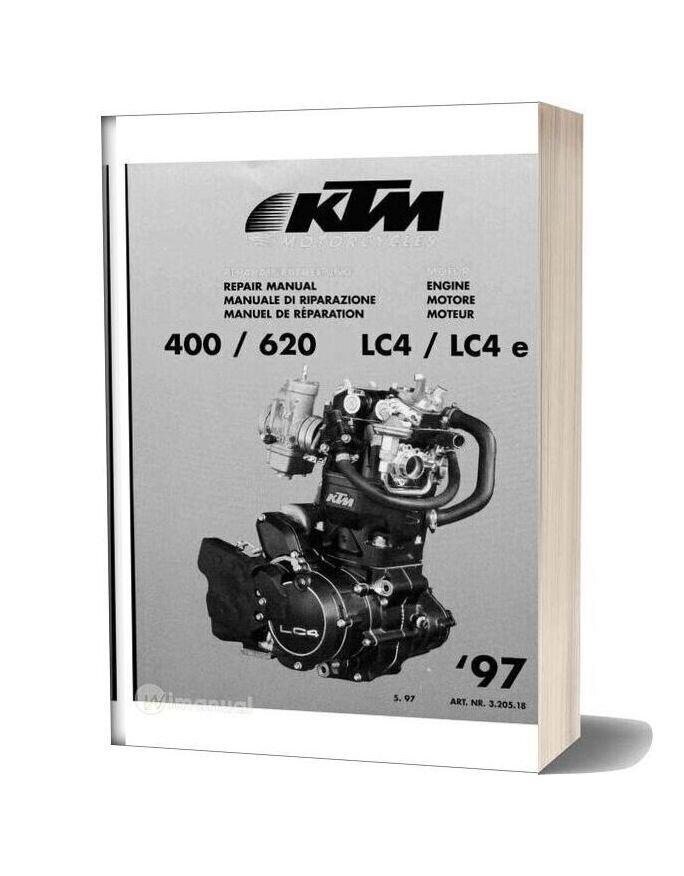 Ktm 400 620 Lc4 Lc4e 97 Repair Manual