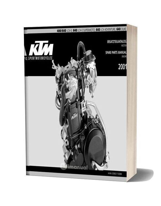 Ktm Lc4 2001 Motor Parts Catalog