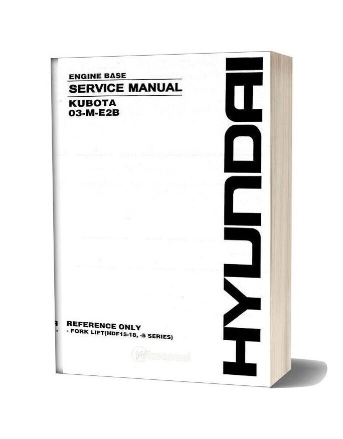 Kubota 03 M E2b Engine Basic Service Manual