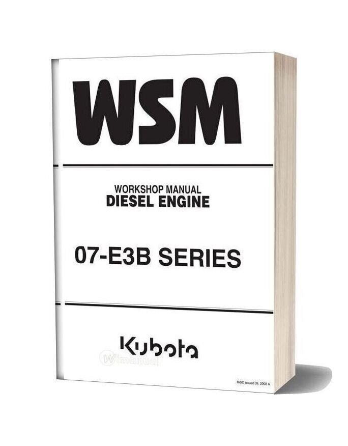 Kubota 07di E3b Series Diesel Engine