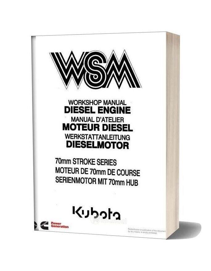 Kubota Engine Manual 70 Mm Stroke Series Wsm