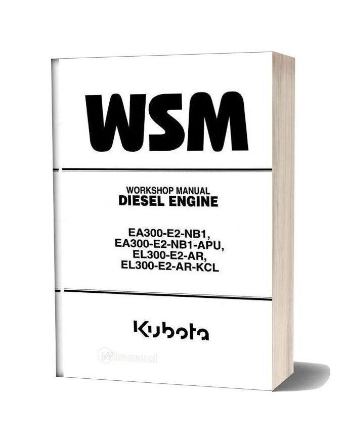 Kubota Engine Work Shop Manual El 300