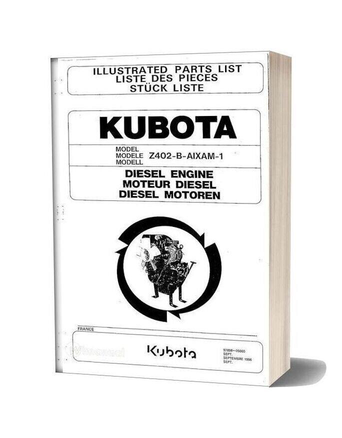 Kubota Engine Z402 B Aixam 1 Parts Manual