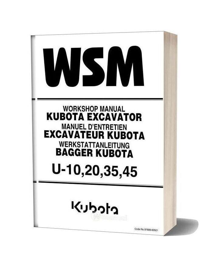 Kubota Excavator U10203545 Workshop Manual
