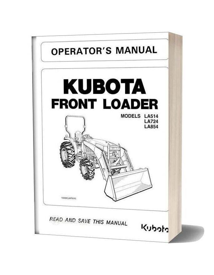 Kubota Front Loader La Series Operation Manual