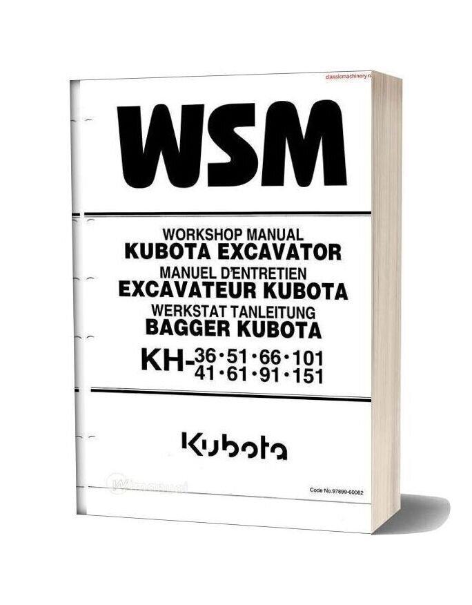 Kubota Kh Series Workshop Manual