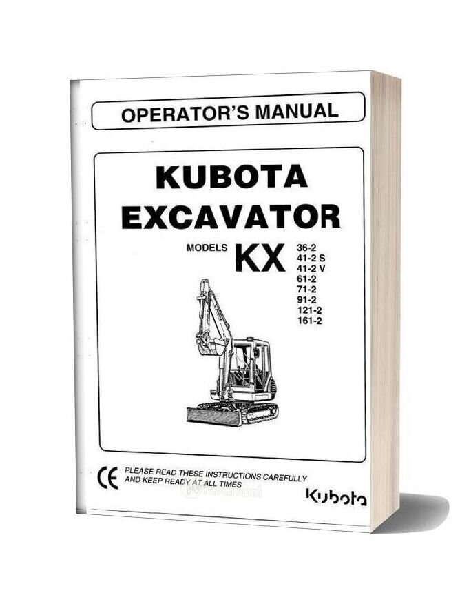Kubota Kx 36 161 Operators Manual Sec Wat