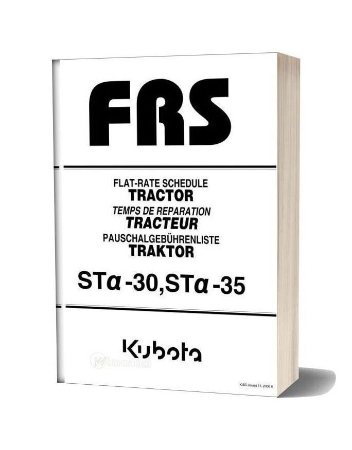 Kubota Sta 30 35 Catalogue Pieces