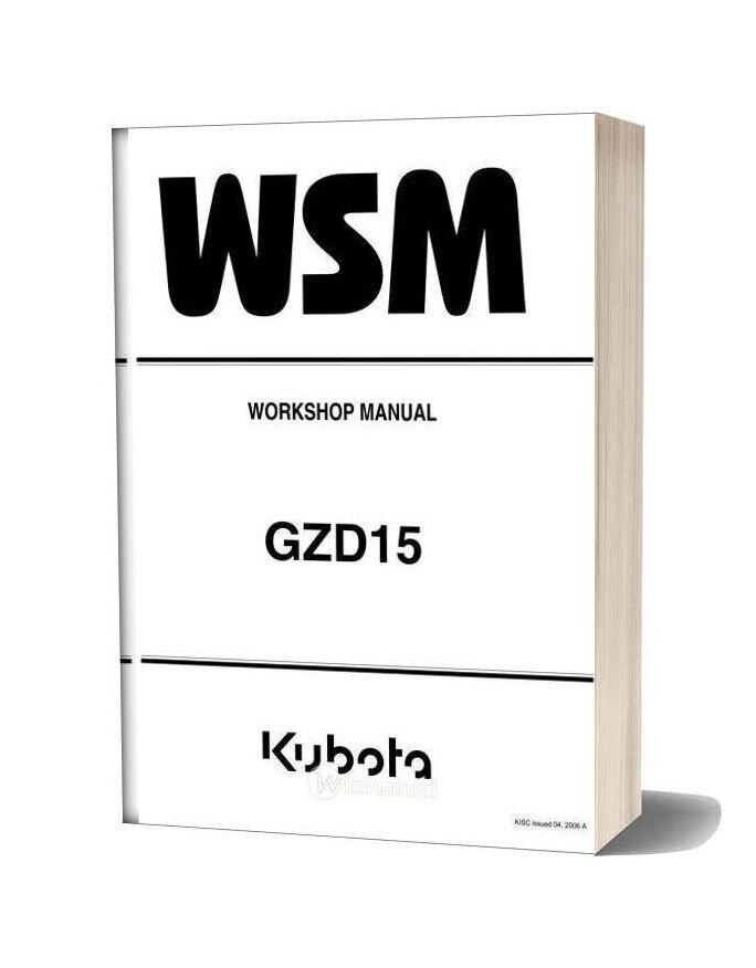 Kubota Tractor Gzd15 Workshop Manual