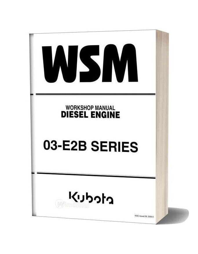 Kubota V2203 Workshop Manual