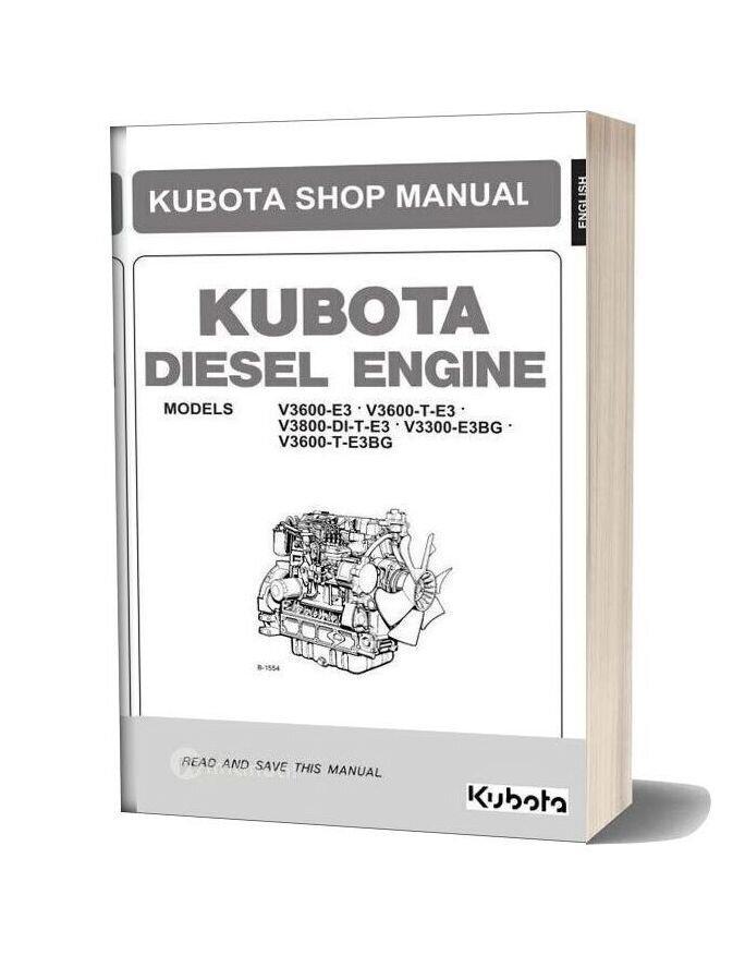 Kubota V3600 Workshop Manual