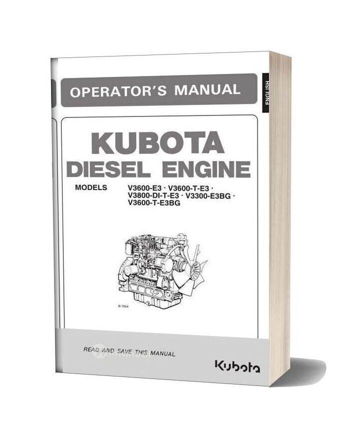 Kubota V3800 Engine Parts Manual