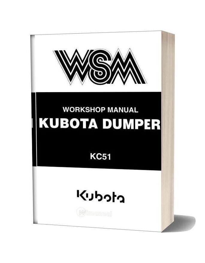 Kubota Workshop Manual Dumper Kc51